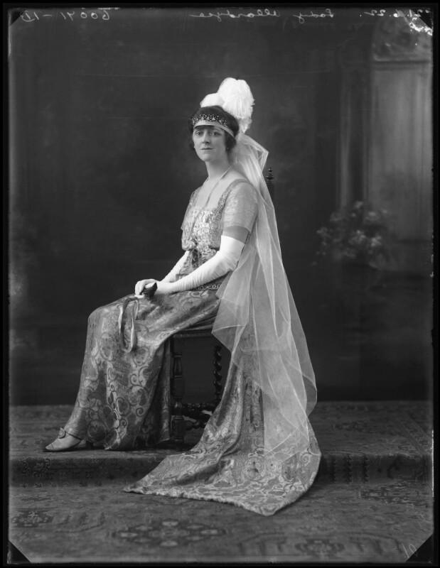 Elsie Elizabeth (née Stewart), Lady Allardyce, by Bassano Ltd, 21 June 1922 - NPG x121689 - © National Portrait Gallery, London