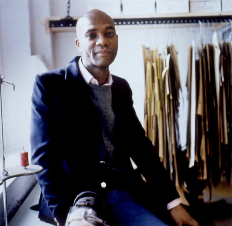 Joe Casely-Hayford, by Sal Idriss, 2002 - NPG x125666 - © Sal Idriss / National Portrait Gallery, London