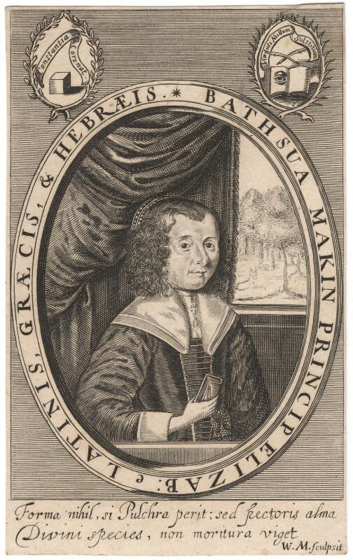 Bathsua Makin (née Reginald), by William Marshall, after  Unknown artist, 1640s - NPG D13657 - © National Portrait Gallery, London