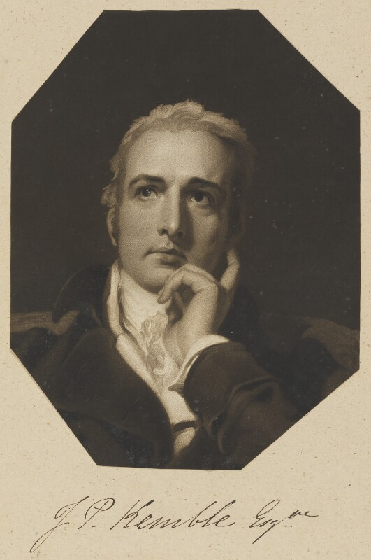John Philip Kemble, by William Say, after a painting attributed to  Sir Thomas Lawrence, published 1814 (1804) - NPG D11306 - © National Portrait Gallery, London