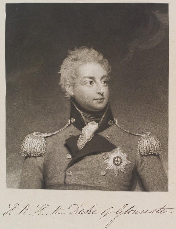 William Frederick, 2nd Duke of Gloucester, by William Say, after  Sir William Beechey, published 1826 - NPG D11324 - © National Portrait Gallery, London