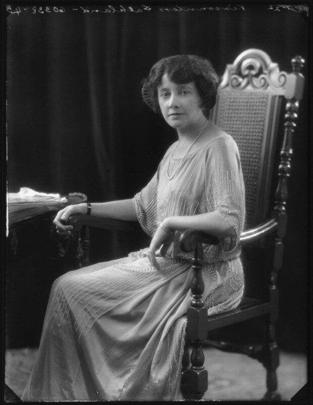 Ella Louise (née Catford), Viscountess Falkland, by Bassano Ltd, 27 July 1922 - NPG x121798 - © National Portrait Gallery, London