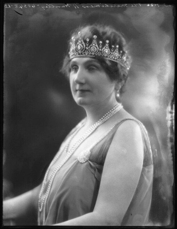 Charlotte Jane Isabelle Gordon (née Fallon), Marchioness of Huntly, by Bassano Ltd, 25 July 1922 - NPG x121799 - © National Portrait Gallery, London