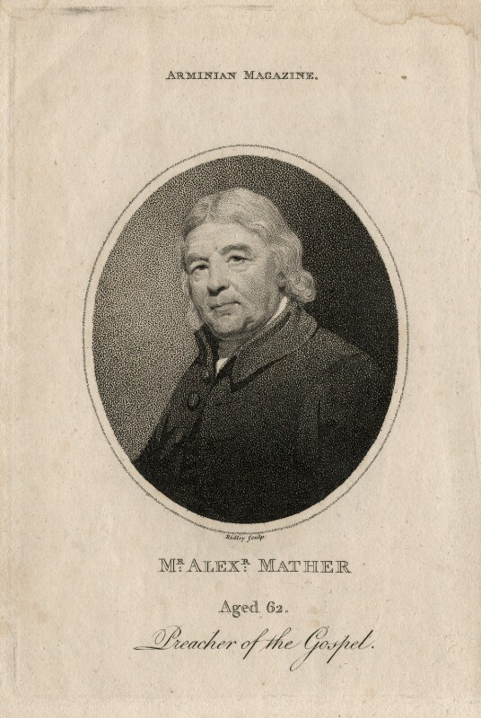 Alexander Mather, by William Ridley, published 1796 - NPG D13658 - © National Portrait Gallery, London