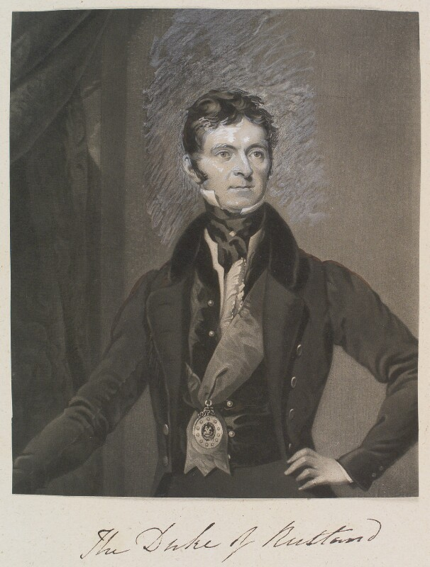 John Henry Manners, 5th Duke of Rutland, by and published by William Say, after  Octavius Oakley, circa 1803-1834 - NPG D11330 - © National Portrait Gallery, London