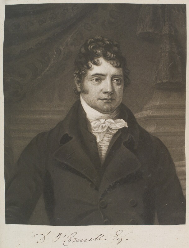Daniel O'Connell, by William Say, probably after  James Arthur O'Connor, circa 1803-1834 - NPG D11345 - © National Portrait Gallery, London