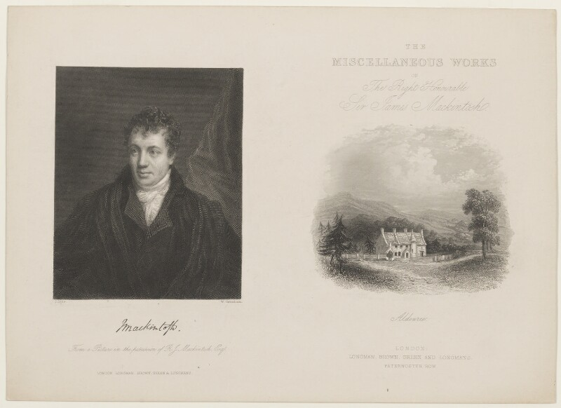 Sir James Mackintosh, by William Greatbach, published by  Longman, Brown, Green & Longmans, after  John Opie, published 1846 - NPG D13688 - © National Portrait Gallery, London