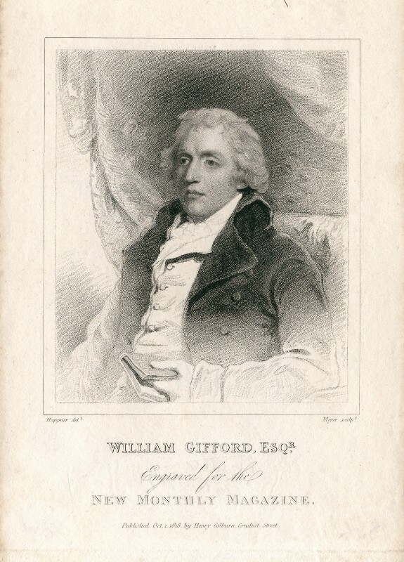 William Gifford, by Henry Meyer, after  John Hoppner, published 1818 - NPG D13690 - © National Portrait Gallery, London