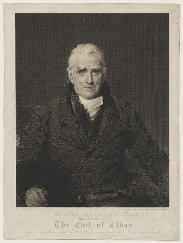 John Scott, 1st Earl of Eldon, by and published by George Thomas Doo, and published by  Colnaghi, Son & Co, after  Sir Thomas Lawrence, 1828 (1826) - NPG D13691 - © National Portrait Gallery, London