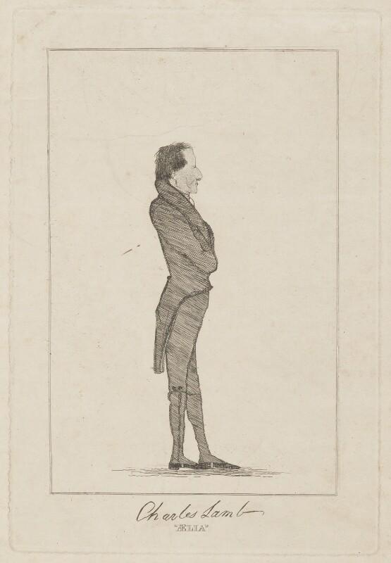 Charles Lamb ('ÆLIA'), by Brook Pulham, 1825 - NPG D13693 - © National Portrait Gallery, London
