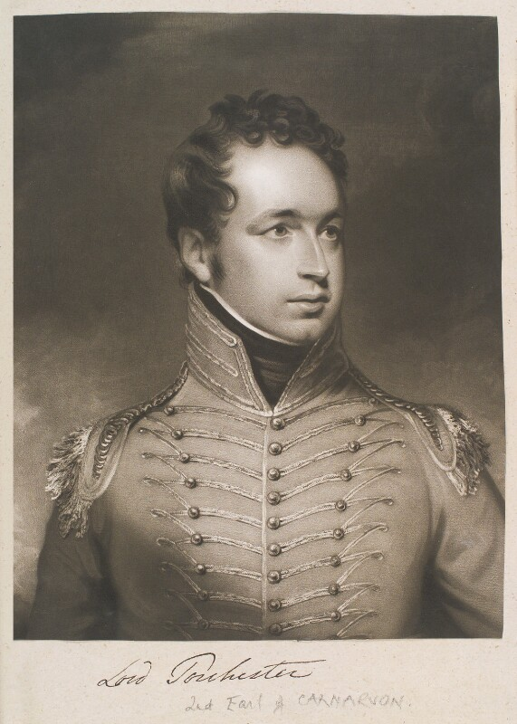 Henry George Herbert, 2nd Earl of Carnarvon, by and published by William Say, after  Sir William Beechey, published 1811 - NPG D11389 - © National Portrait Gallery, London