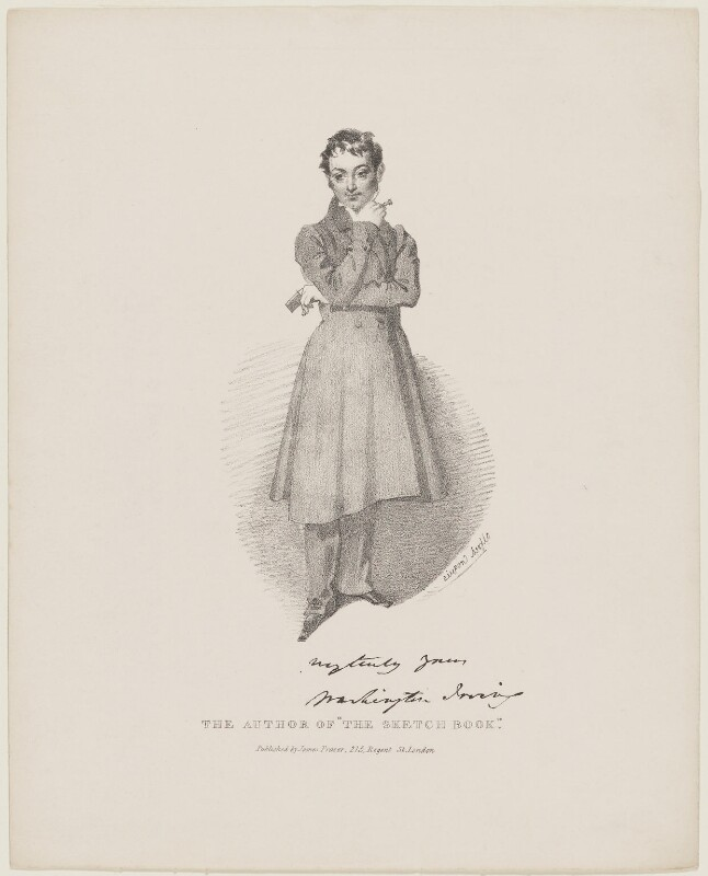 Washington Irving, by Daniel Maclise, published by  James Fraser, originally published 1830-1838 - NPG D13694 - © National Portrait Gallery, London
