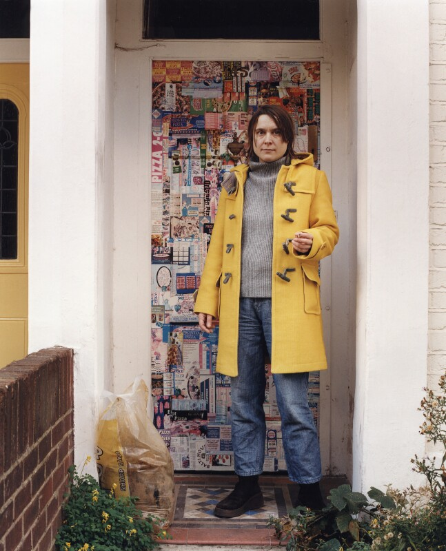 Sarah Lucas, by Johnnie Shand Kydd, October 2002 - NPG x125683 - © Johnnie Shand Kydd