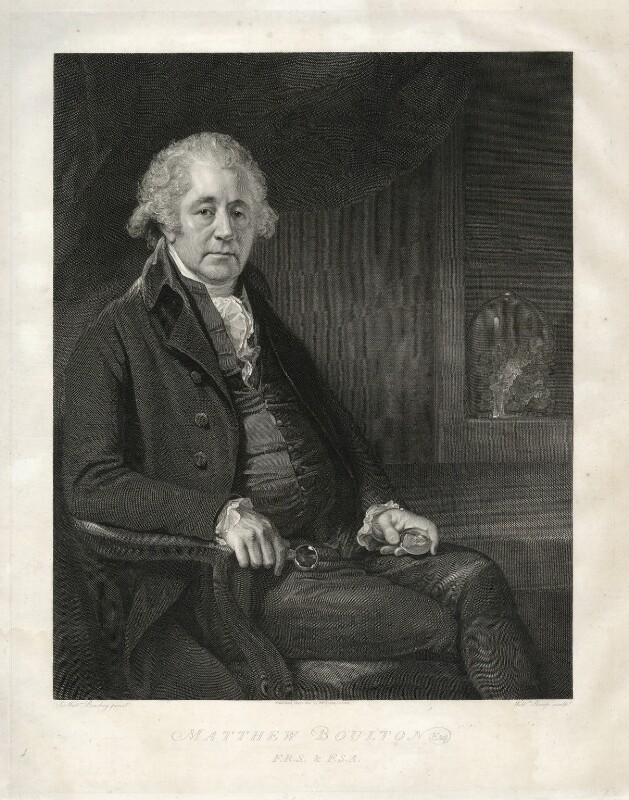 Matthew Boulton, by and published by William Sharp, after  Sir William Beechey, published 1801 - NPG D13736 - © National Portrait Gallery, London