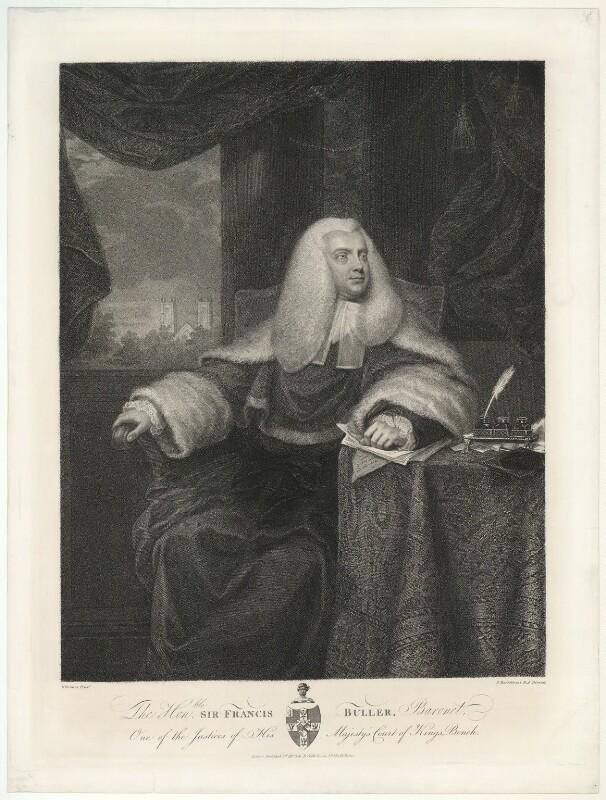 Sir Francis Buller, 1st Bt, by Francesco Bartolozzi, after  Mather Brown, published 1823 - NPG D13739 - © National Portrait Gallery, London