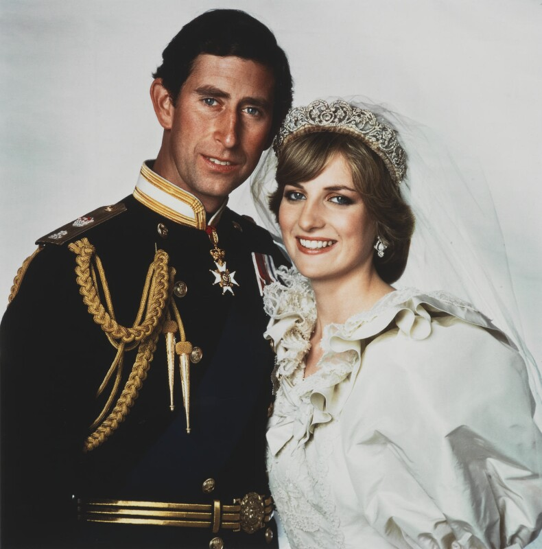 Prince Charles; Diana, Princess of Wales, by Thomas Patrick John Anson, 5th Earl of Lichfield, July 1981 - NPG x29864 - © Lichfield