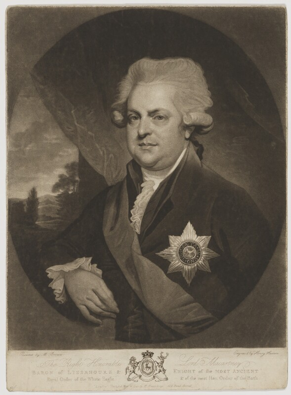 George Macartney, 1st Earl Macartney, by Henry Hudson, published by  Hannah Humphrey, after  Mather Brown, published 10 November 1790 - NPG D13744 - © National Portrait Gallery, London