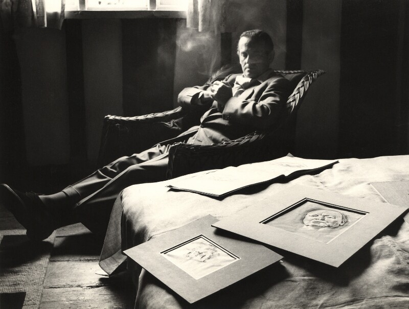 Graham Sutherland, by Peter Keen, late 1950s - NPG x36000 - © estate of Peter Keen / National Portrait Gallery, London