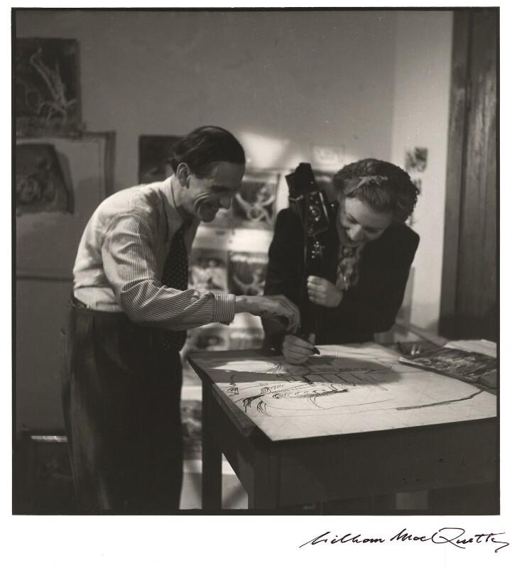 Graham Sutherland; Lee Miller, by William MacQuitty, 1943 - NPG x34809 - © Estate of  William MacQuitty