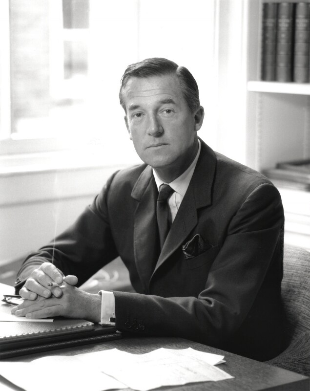 Sir Hardy Amies, by Rex Coleman, for  Baron Studios, 18 October 1961 - NPG x125751 - © National Portrait Gallery, London