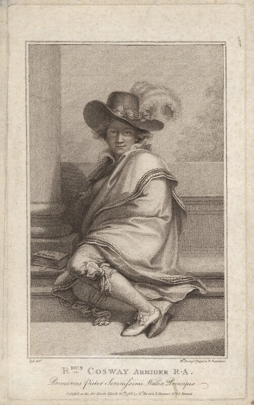 Richard Cosway, by Marino or Mariano Bovi (Bova), after  Richard Cosway, published 20 March 1786 - NPG D13726 - © National Portrait Gallery, London