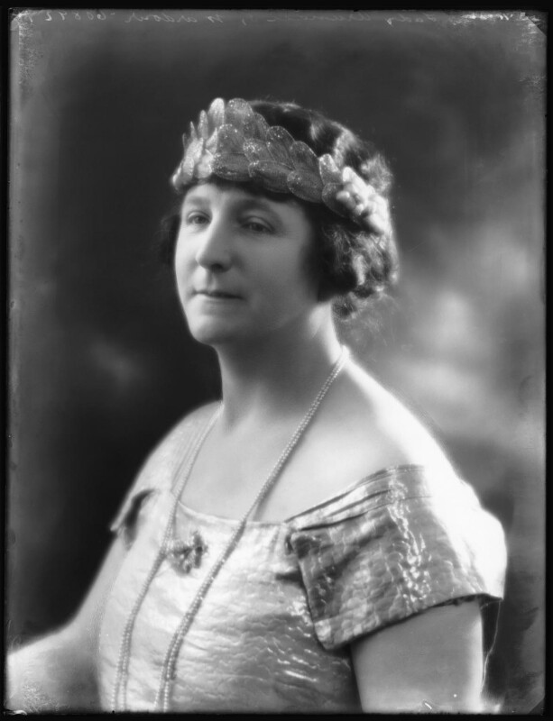 Ivy Florence Mary (née Segrave), Lady Arundell of Wardour, by Bassano Ltd, 23 November 1922 - NPG x122052 - © National Portrait Gallery, London