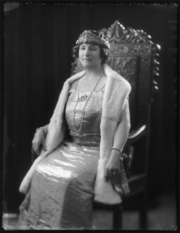 Ivy Florence Mary (née Segrave), Lady Arundell of Wardour, by Bassano Ltd, 23 November 1922 - NPG x122055 - © National Portrait Gallery, London