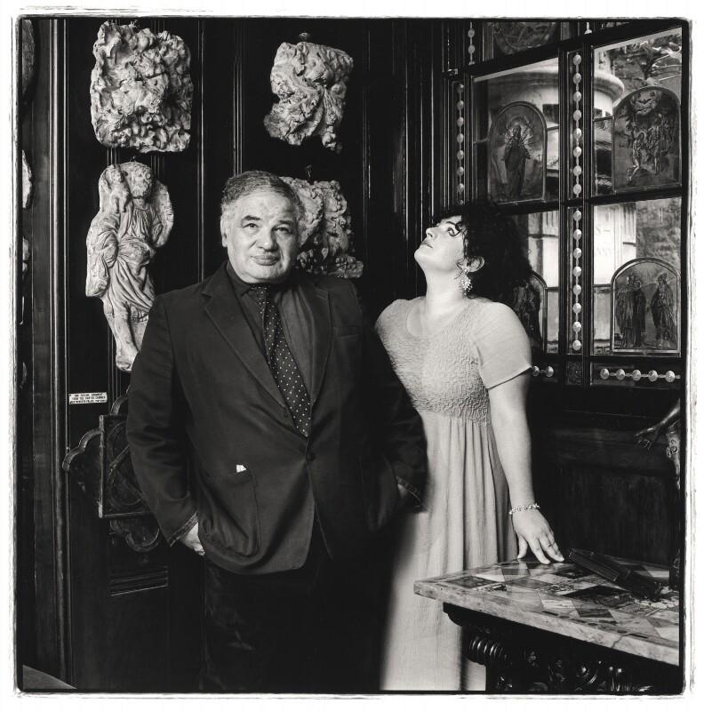 Sir Eduardo Paolozzi; Anna Paolozzi, by Emily Andersen, 1998 - NPG x125845 - © Emily Andersen