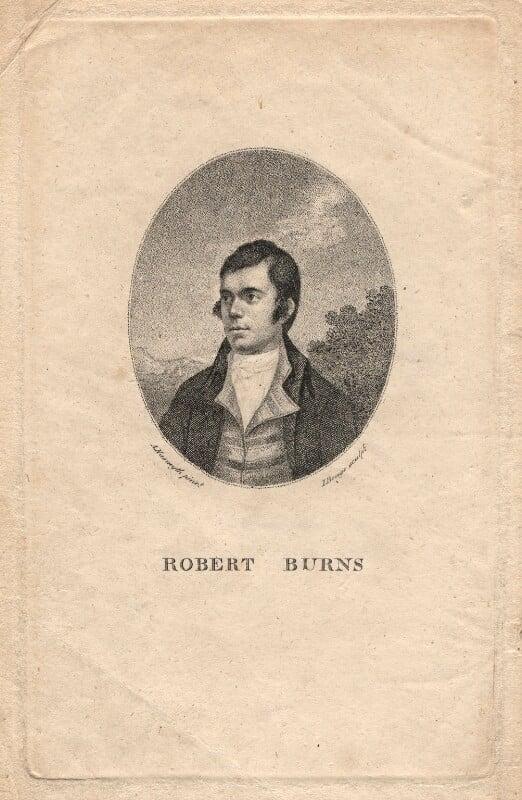 Robert Burns, by John Beugo, after  Alexander Nasmyth, published 1787 - NPG D13790 - © National Portrait Gallery, London