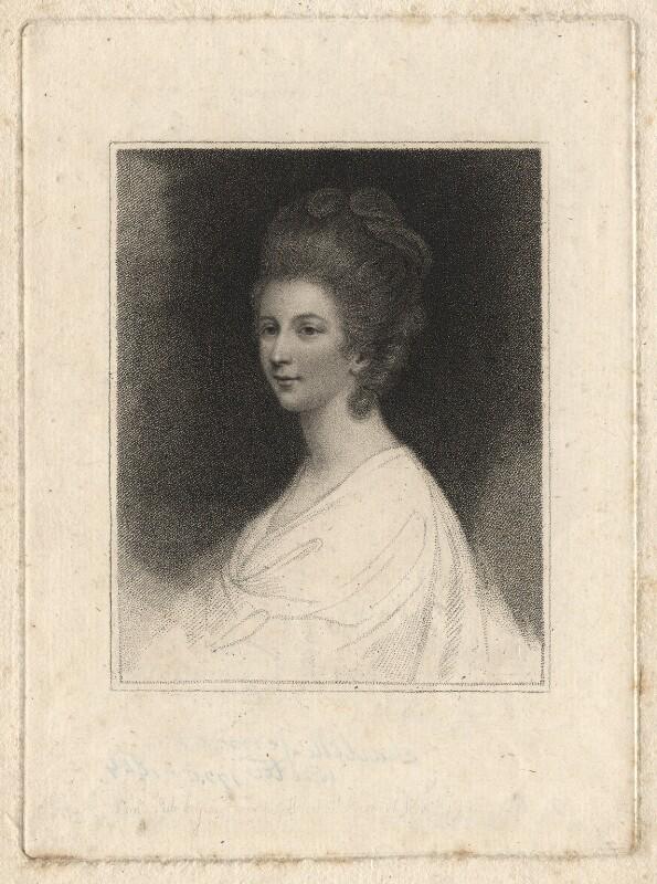 Charlotte Lennox (née Ramsay), by Francesco Bartolozzi, after  Sir Joshua Reynolds, published 1793 - NPG D13802 - © National Portrait Gallery, London