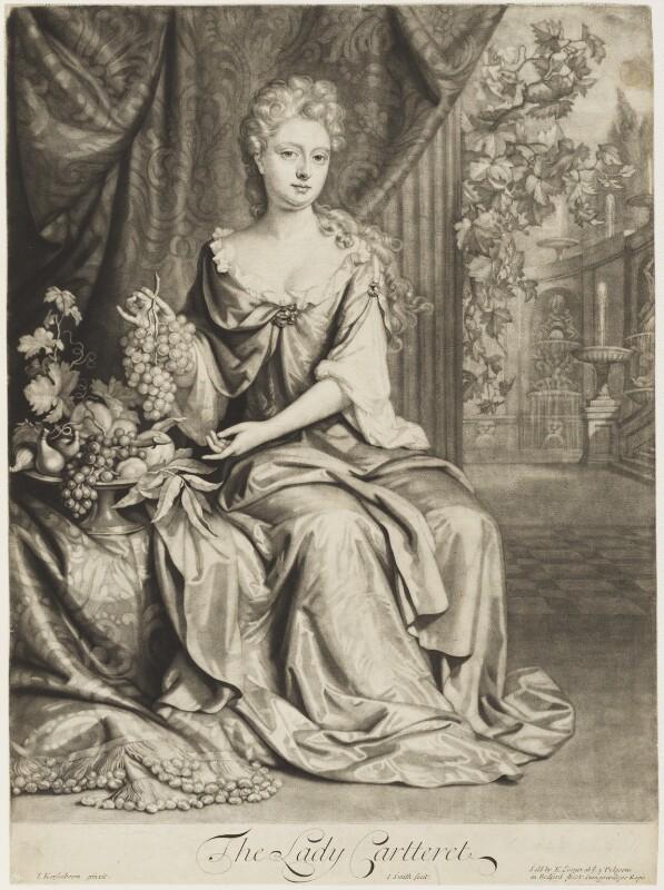 Grace (née Granville), Countess Granville and Viscountess Carteret, by John Smith, published by  Edward Cooper, after  Johann Kerseboom, 1693 - NPG D18694 - © National Portrait Gallery, London