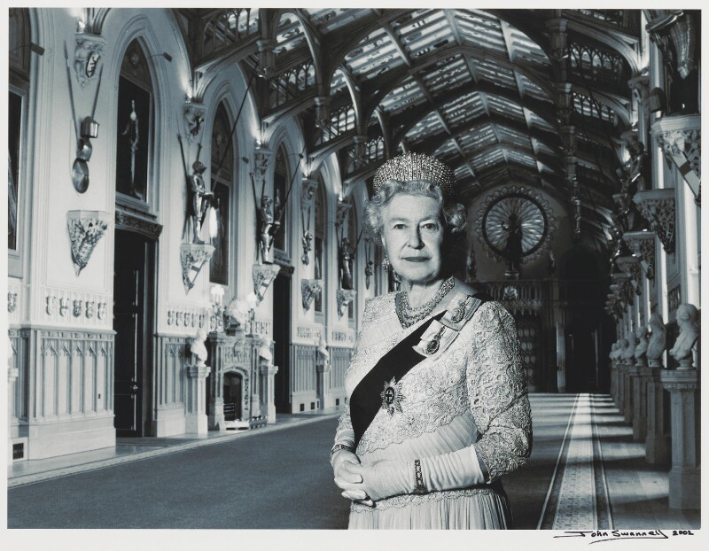 Queen Elizabeth II, by John Swannell, November 2001 - NPG x125852 - © John Swannell / Camera Press