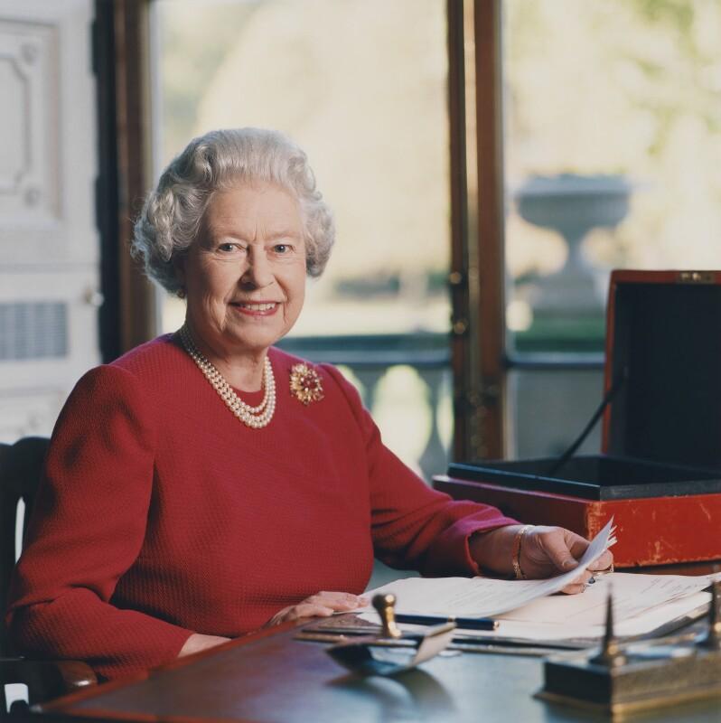 Queen Elizabeth II, by David Secombe, 1 November 2001 - NPG x125853 - © David Secombe