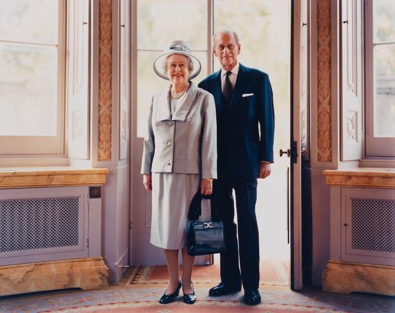 Queen Elizabeth II; Prince Philip, Duke of Edinburgh, by Bryan Adams, October 2001 - NPG x125854 - © Bryan Adams