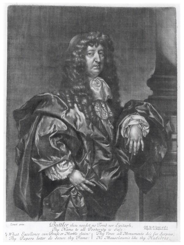 Samuel Butler, published by Edward Cooper, after  Gilbert Soest, circa 1680 - NPG D20049 - © National Portrait Gallery, London