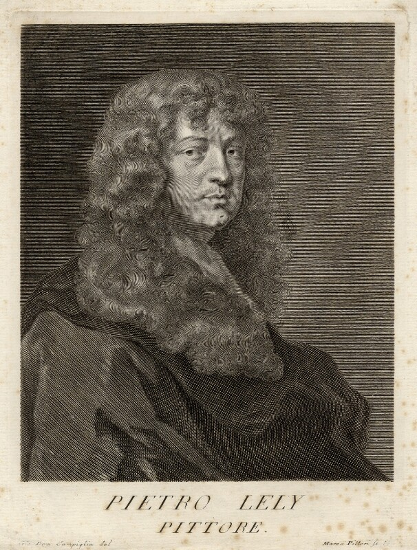 Sir Peter Lely, by Marco Alvise Pitteri, after  Sir Peter Lely, mid 18th century - NPG D17860 - © National Portrait Gallery, London