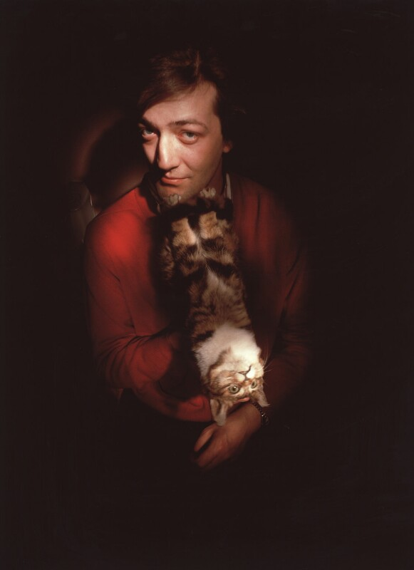 Stephen Fry, by Steve Speller, 19 May 1988 - NPG x34602 - © Steve Speller / National Portrait Gallery, London