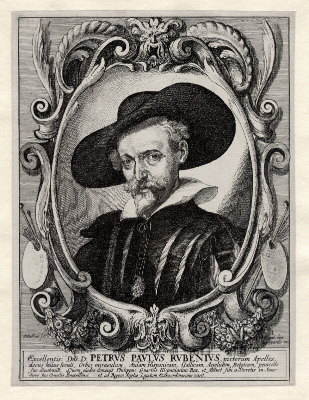 Sir Peter Paul Rubens, after Wenceslaus Hollar, (mid 17th century) - NPG D17866 - © National Portrait Gallery, London