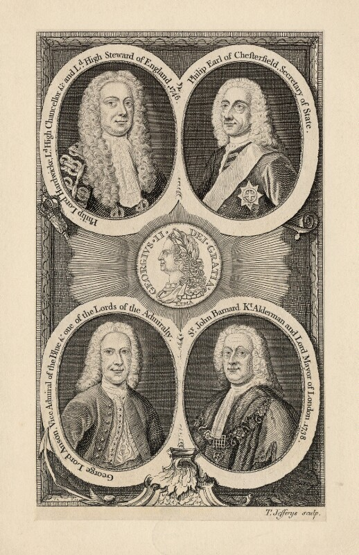 George II and his officials, by Thomas Jefferys, circa 1746-1760 - NPG D17871 - © National Portrait Gallery, London