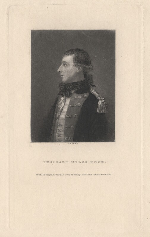 Theobald Wolfe Tone, by T.W. Huffam, after  Unknown artist, mid 19th century - NPG D13755 - © National Portrait Gallery, London