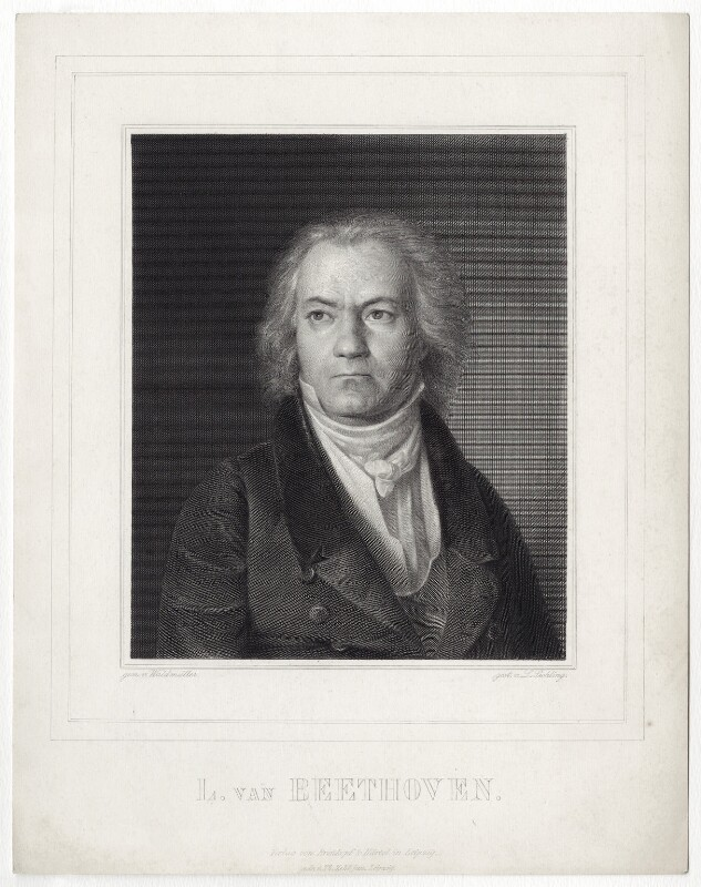 Ludwig van Beethoven, by Lazarus Gottlieb Sichling, after  Ferdinand Georg Waldmüller, (1823) - NPG D13759 - © National Portrait Gallery, London