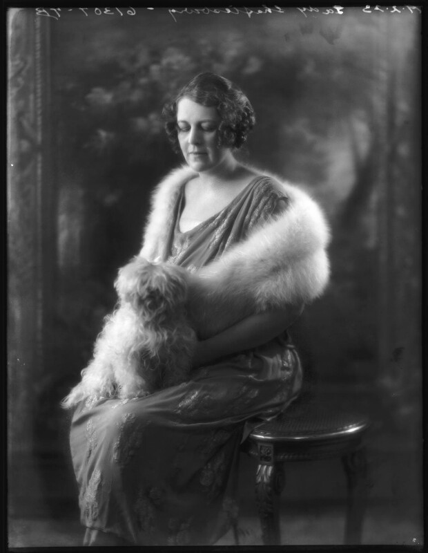 Constance Sibell Ashley-Cooper (née Grosvenor), Countess of Shaftesbury, by Bassano Ltd, 19 February 1923 - NPG x122334 - © National Portrait Gallery, London