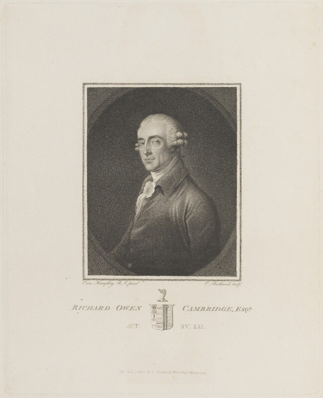 Richard Owen Cambridge, by and published by Charles (Cantelowe, Cantlo) Bestland, after  Ozias Humphry, published 1 June 1803 - NPG D13890 - © National Portrait Gallery, London