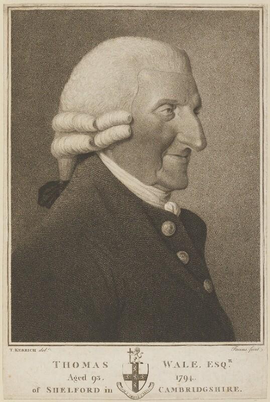 Thomas Wale, by Georg Siegmund Facius, after  Thomas Kerrich, circa 1775-1800 - NPG D13895 - © National Portrait Gallery, London
