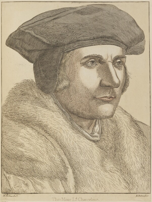 Sir Thomas More, by Richard Dalton, after  Hans Holbein the Younger, circa 1750-1775 - NPG D13912 - © National Portrait Gallery, London
