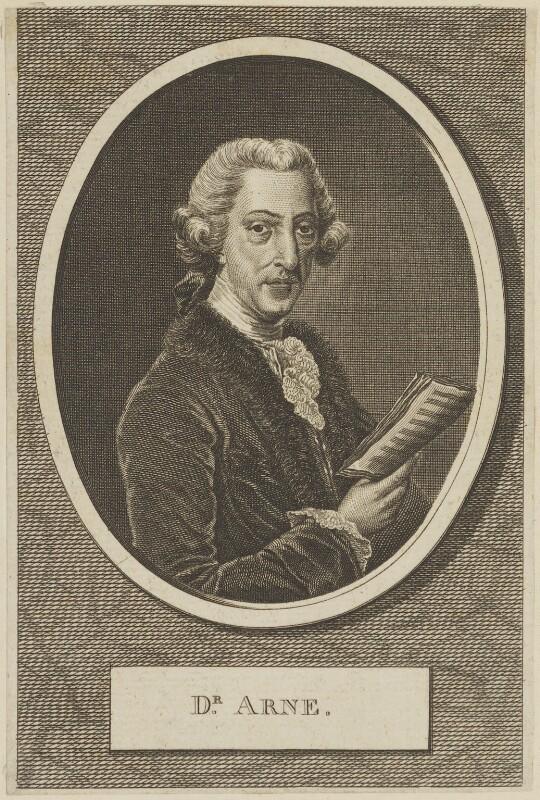 Thomas Augustine Arne, after Robert Dunkarton, circa 1775-1800 - NPG D13867 - © National Portrait Gallery, London