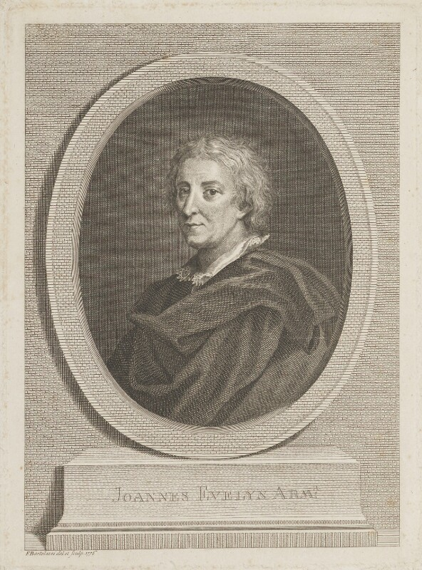 John Evelyn, by Francesco Bartolozzi, published 1776 - NPG D13884 - © National Portrait Gallery, London