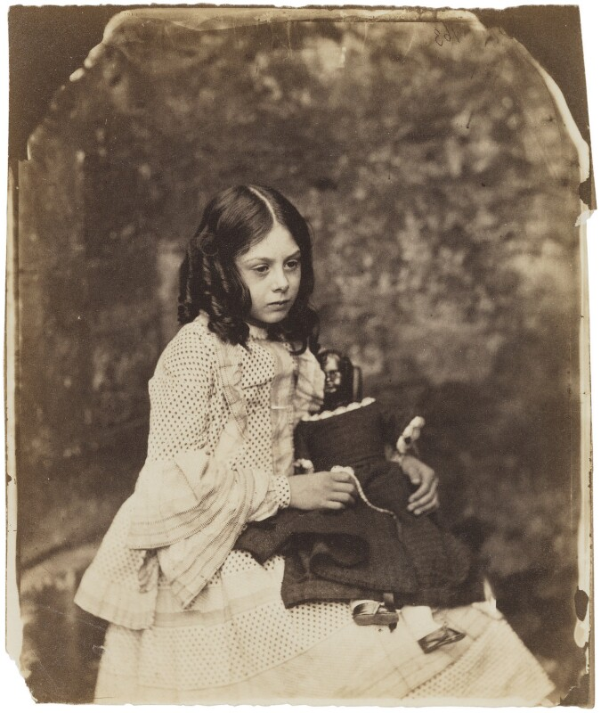 Ina Liddell, by Lewis Carroll, Summer 1858 - NPG P991(2) - © National Portrait Gallery, London and the National Media Museum (part of the Science Museum Group, London)