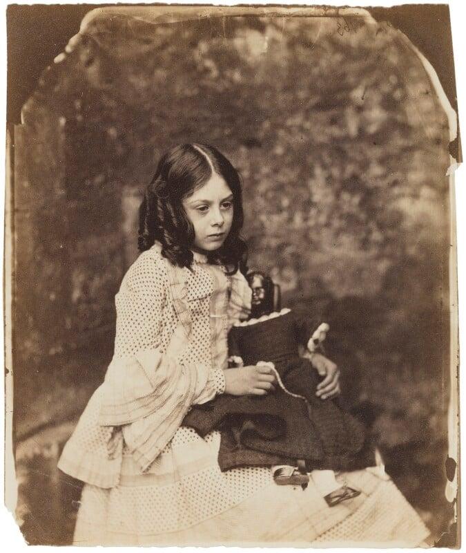 Ina Liddell, by Lewis Carroll (Charles Lutwidge Dodgson), Summer 1858 - NPG P991(2) - © National Portrait Gallery, London
