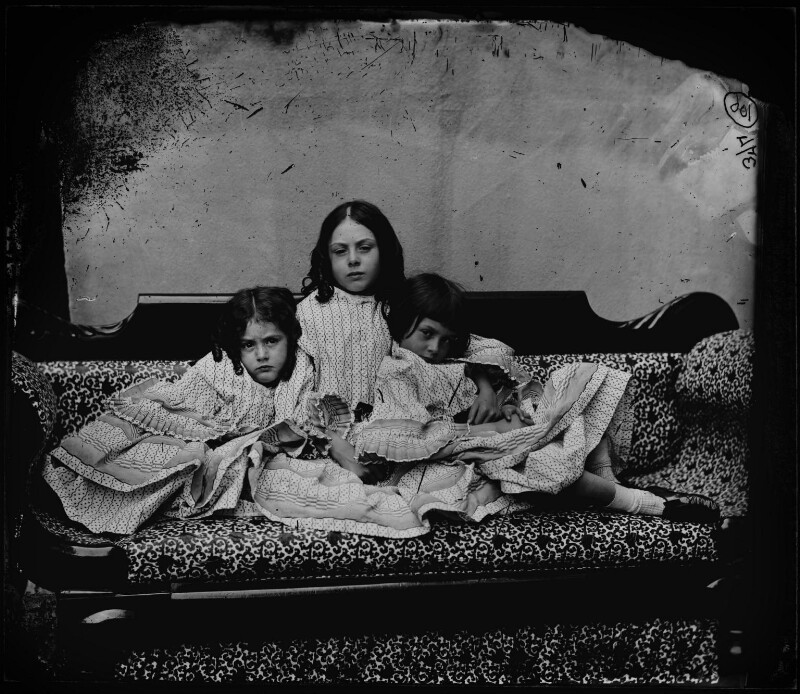 Edith Mary Liddell; Ina Liddell; Alice Liddell, by Lewis Carroll (Charles Lutwidge Dodgson), Summer 1858 - NPG P991(3) - © National Portrait Gallery, London and the National Media Museum (part of the Science Museum Group, London)